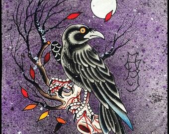 Fall Raven - Ashley Riot print