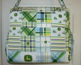 Extra Large John Deere Diaper Bag & Matching Changing Pad - Ready To Ship!