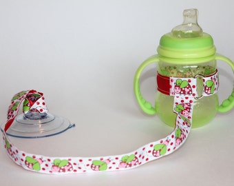 Sippy Cup Leash Sippy Strap Sippy Cup Strap Suction Cup Bottle Tether Sippy Cup Strap Suction Sippy Strap Glitter Ladybugs Girl Birthday