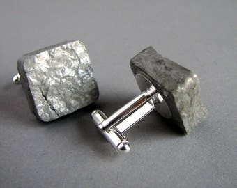1st anniversary gift for him • Handmade recycled paper cufflinks