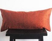 Orange Retro Pillow Covers, Decorative Modern Vintage Pod Pillow Covers. Home Decor, 12x24 Decorative Pillow. Lumbar Pillow Cushion