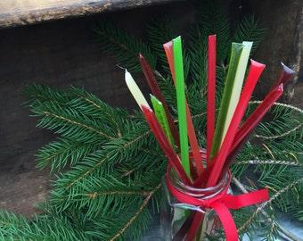 12 Assorted Christmas Honey Sticks