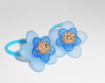 Colorful Flower Ponytail Elastics, Ponytail Accessories, Pony Tail Ties, Hair Accessories, Flower Girl Hair Accessory. Hair Elastics,  PT225