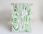 BARK Tea Towel:  Wood Grain Print, White or Natural Cotton, Boho Style, Great Kitchen Gift