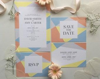 Geometric - Modern Wedding Stationery Set