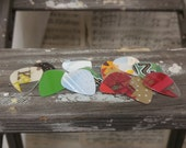 Upcycled Gift Card Guitar Picks - Colored Guitar Picks - Gifts Under 10 - Music Gifts - Guitarist - Gifts for Musicians - Guitar Accessories