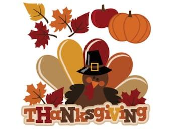 Thanksgiving Die cut, Fall Die Cuts, Thanksgiving Scrapbook embellishment, scrapbook die cut, Autumn die cuts, scrapbooking die cuts