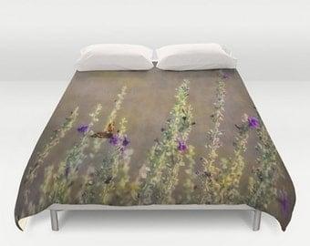 Duvet Comforter Cover Desert Sage & Butterfly