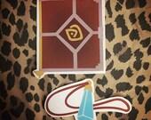 Atlantis the Lost Empire Disney Shepherd's Journal & Crystal Necklace Sticker Set