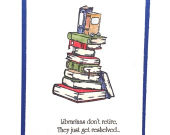 Librarian, Retirement, Congratulations, Book Lover, Dewey Decimal, Card for Librarian, Library Card, Reader, Books, School Librarian