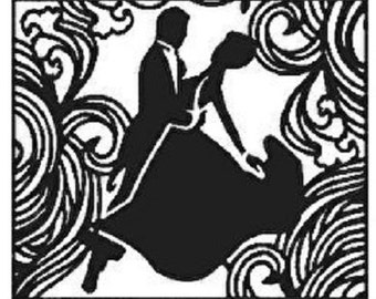 HIS n HERs - BALLROOM DANCERs by CRAFT CONCEPTs - Rare EMBOSSiNG Folder   - A2 SiZE