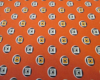Quilting Weight Cotton Fabric by Denyse Schmidt for Free Spirit Boxer Medallion in Carnelian 1 yard