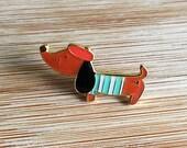 ANIMAL | Cute Sausage Dog Enamel Lapel Pin