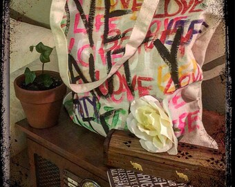 LOVE BEAUTY LIFE tote