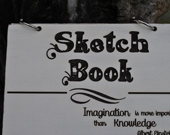 Art Sketch Book-Gift - Laser Engraved With Custom Etching - Artist Book