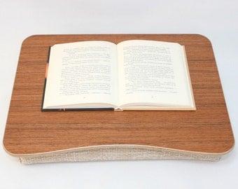Wood Laptop Bed Tray / Teak Desk / iPad Table / Pillow Tray / Breakfast Tray / Laptop Stand Teak Light