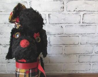Vintage Stuffed Scotty Dog or Poodle Stuffed Toy Animal