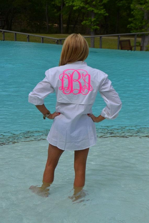 Ladies monogrammed fishing shirt monogrammed sun shirt for Monogrammed fishing shirts