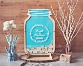 Mason Jar Wedding Guest Book Alternative Size 2 - MJ2