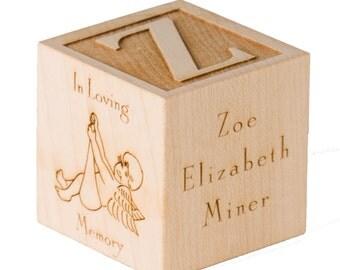 Engraved Infant Memorial Block Engraved Wooden Block Stillborn Born Sleeping Infant Loss Angel Baby In Loving Memory Engraved Bereavement