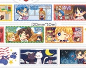 1 Roll of Limited Edition Japanese Anime Washi Tape- Sailor Moon Stamp Tape
