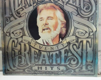 Kenny Rogers. Vintage Record Album. Twenty Greatest Hits. 1983. The Gambler Says Buy This Album But Don't Fall In Love With a Dreamer.