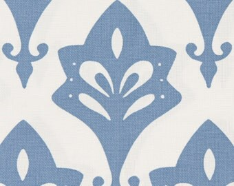 Serena and Lily All Weather Acanthus Fabric in Denim - Outdoor Fabric - Fabric by the Yard