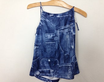 fake denim top size M/L