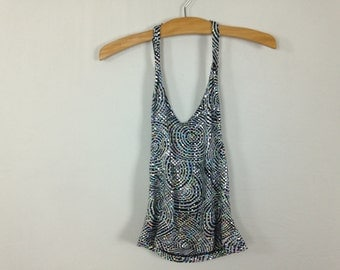 90s glitter optical illusion top size M