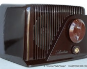 SILVERTONE  Mid Century Tube Radio Looks Swell & Plays Well - Orig Box - Video  Free Shipping in USA