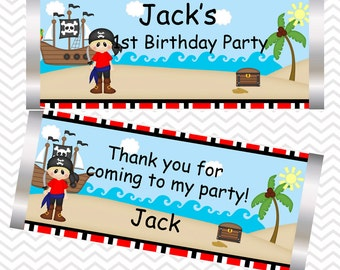 Pirate Boy - Personalized Candy Bar Wrapper