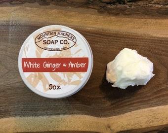 White Ginger & Amber Organic Body Butter