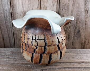 ChingwenartsI handmade stoneware money sack pot E006