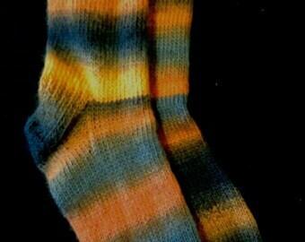 Firebomb the bright orange grey and black Sassi woollen socks