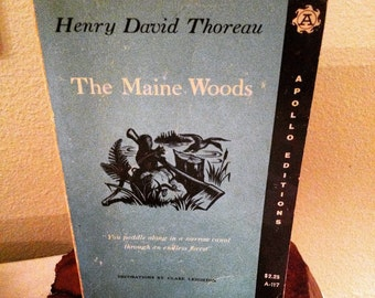 The Maine Woods by Henry David Thoreau 1962