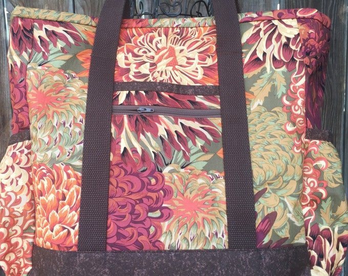 Large Tote Bag with Pockets, Teacher Tote, Diaper Bag, Nurse Tote, Teacher Bag, Work Tote, Travel Tote, Professional Tote, Kitchen Sink Tote