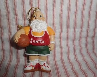 Basketball Player Santa Ornament