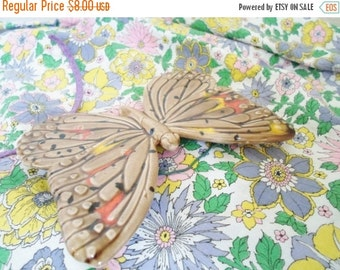 ON SALE Vintage Ceramic Butterfly By Duncan Ceramic Prod Inc    Wall Hanging