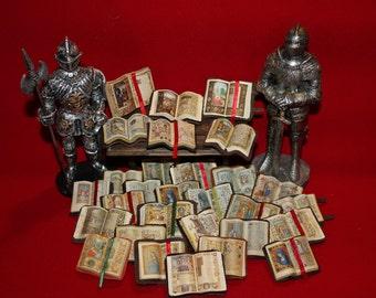 Dollhouse miniature  medieval  open book