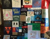 Custom Puzzle T Shirt Quilt for Laura Eve E. - FINAL PAYMENT