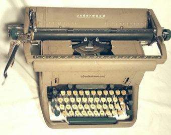 Underwood Golden Touch 1950s Typewriter