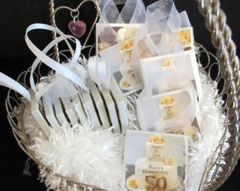 50th Anniversary Favors, Napkin Rings, Ornament Great Guest Gift