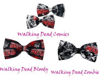 The Walking Dead Hair Bow, Walking Dead Fan Gift Ideas, The Walking Dead Bow, Gifts for Her