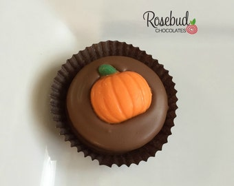 12 Chocolate Pumpkin Oreo Cookie Favors Halloween Fall Harvest Festival Candy Thanksgiving
