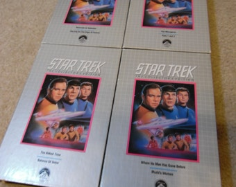 Set of 4 Star Trek The Collector's Edition CBS Video Library VHS Tapes