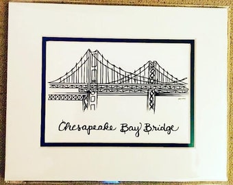 Chesapeake Bay Bridge - Drawing