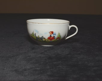 Beautiful Little Red Riding Hood Tea Cup