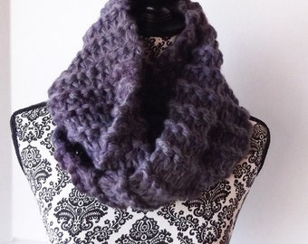 Bulky Cowl Infinity Scarf Knit Outlander Inspired