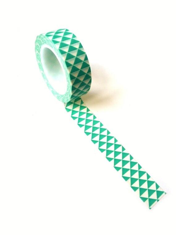 Washi tape geometric turqoise for Geometric washi tape designs