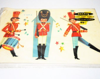 Vintage Decals, Meyercord, Toy Soldier, Wall Decor, Soldier Theme, Wall Decals,  Original Package
